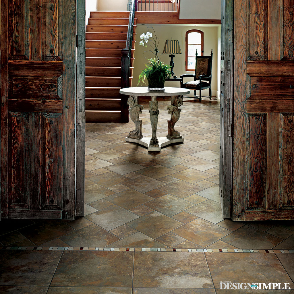 Carpet One Stone Flooring in Entryway